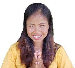 """Bussaba Massage Khao Lak - Bussaba does the Thai greeting """"Wai"""""""