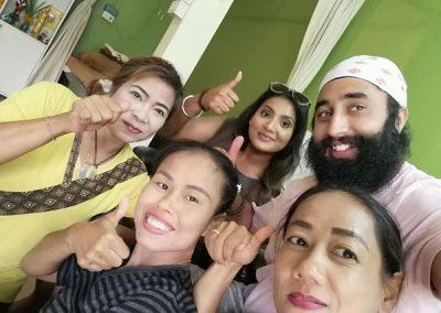 Bussaba Massage customers and staff