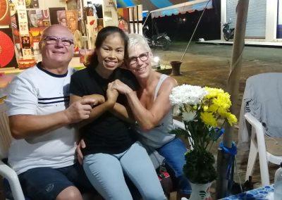 Happy customers at Bussaba Massage in Bang Niang Khao Lak