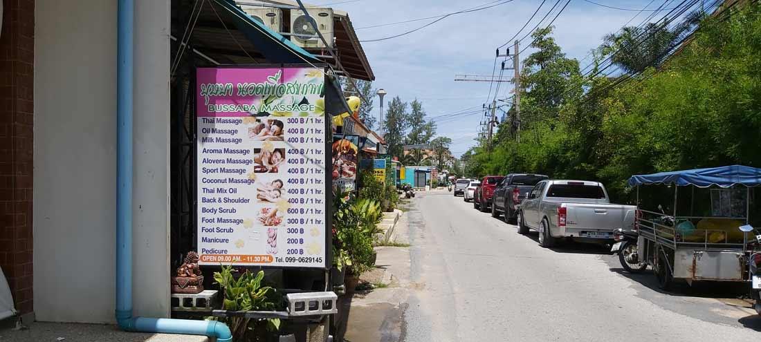 Bussaba Massage Khao Lak Bang Niang Thailand - New Location