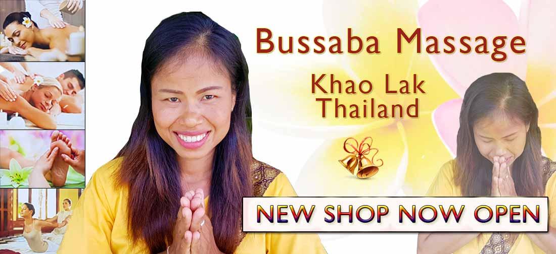 Bussaba Massage Khao Lak Thailand - New Shop Open