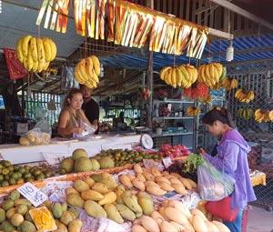 Bang Niang market in Khao Lak Thailand